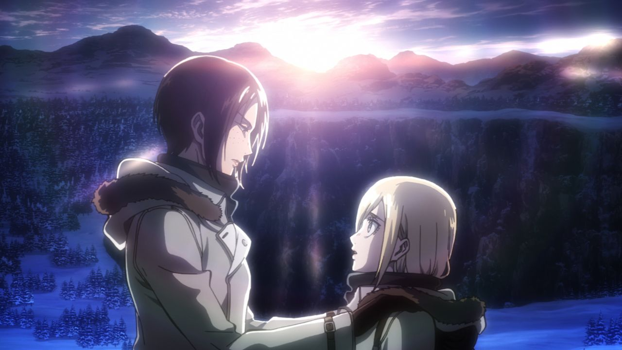 Sasha (l.); Armin (r.) - Bildquelle: Hajime Isayama, Kodansha/ÒATTACK ON TITANÓ Production Committee. All Rights Reserved.