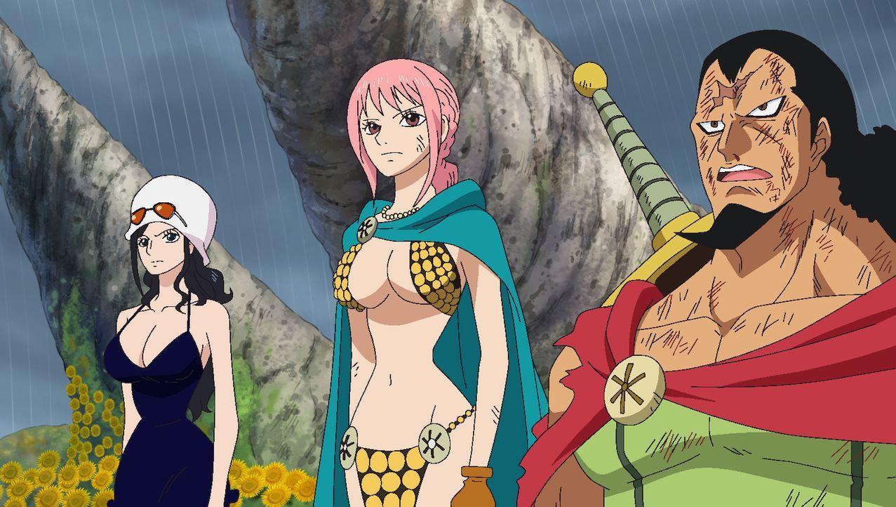 (v.l.n.r.) Nico Robin; Rebecca; Kyros - Bildquelle: Eiichiro Oda/Shueisha, Toei Animation