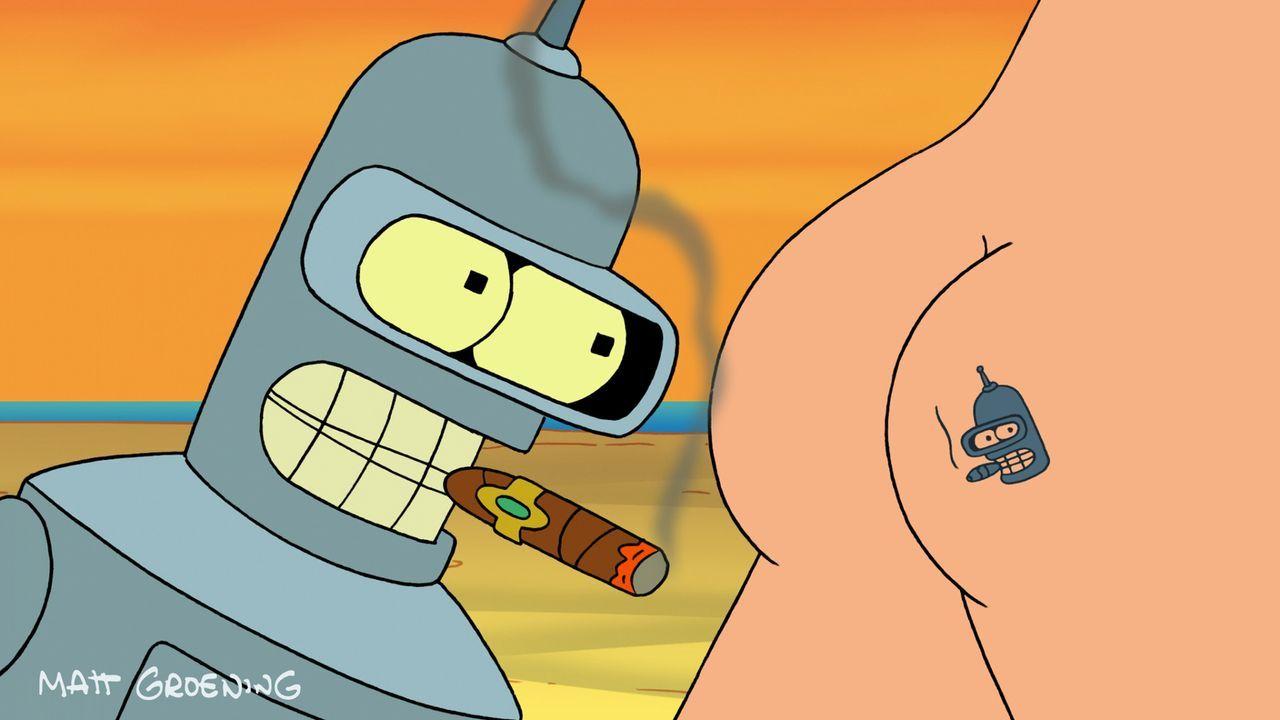 Während Conrad weiter ohne Körper existieren muss, fühlt sich Bender auf dem Nacktbad-Planeten wohl ... - Bildquelle: 2007 Twentieth Century Fox Film Corporation. All rights reserved.