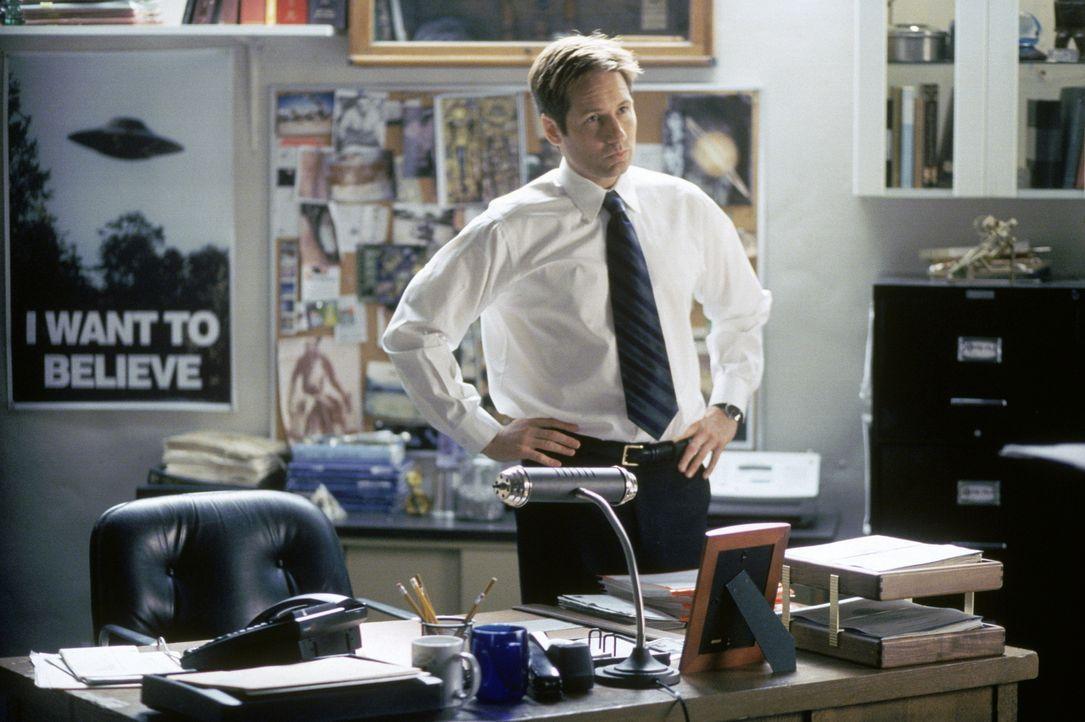 Als Konsequenz seines eigenmächtigen Handelns wird Mulder (David Duchovny) von Kersh gekündigt und gehört ab sofort nicht mehr dem FBI an. - Bildquelle: TM +   2000 Twentieth Century Fox Film Corporation. All Rights Reserved.