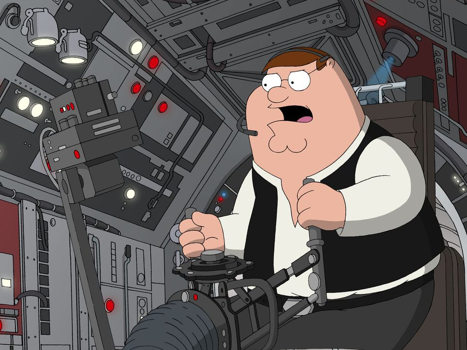 "Möge die Macht mit ""Family Guy"" sein, der Griffin-Clan dreht die größte Science-Fiction-Saga aller Zeiten durch die Mangel: Peter als verwegener Han... - Bildquelle: TM +   Twentieth Century Fox Film Corporation. All Rights Reserved."