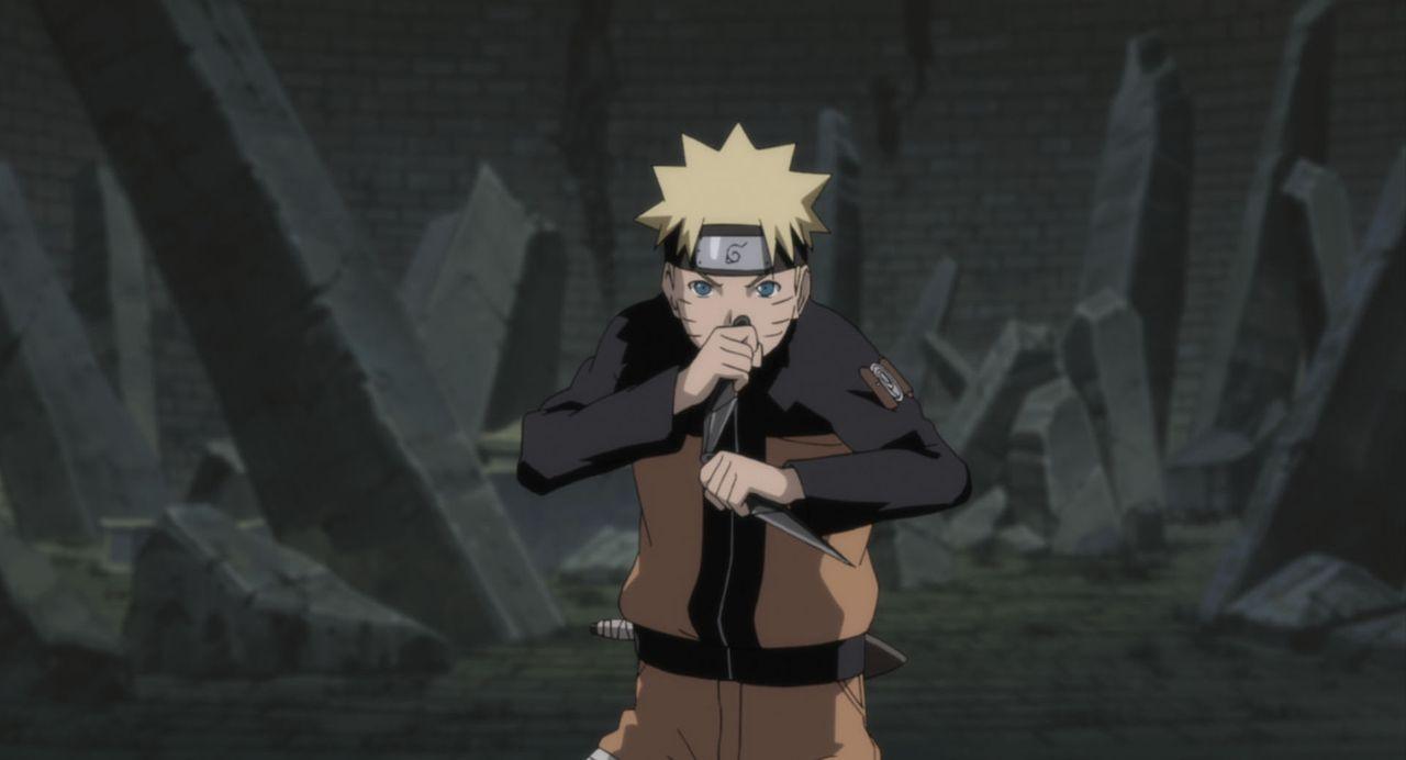 Naruto wird von einem seltsamen Licht in die Vergangenheit zurückversetzt und trifft dort auf seinen Vater ... - Bildquelle: 2002 MASASHI KISHIMOTO /2007 Shippuden   NMP 2010