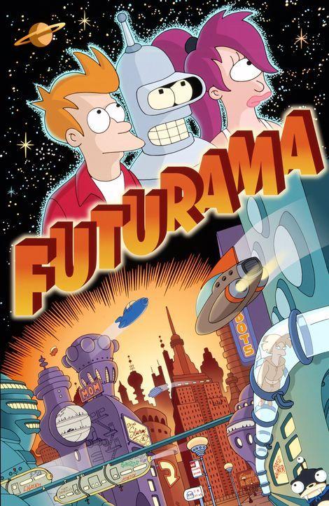 (5. Staffel) - Fry (l.) erkundet mit seinen Freunden Leela (r.) und Roboter Bender (M.) die unendlichen Weiten des Universums. - Bildquelle: und TM Twenthieth Century Fox Film Corporation - Alle Rechte vorbehalten