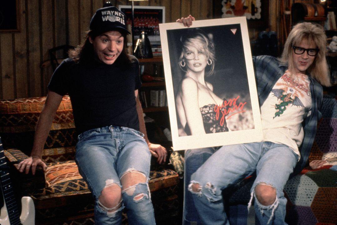 Wayne (Mike Myers, l.) und Garth (Dana Carvey, r.) drehen Blödelshows fürs Lokalfernsehen und das mit so viel Witz, dass der ölige TV-Produzent Oliv... - Bildquelle: Paramount Pictures