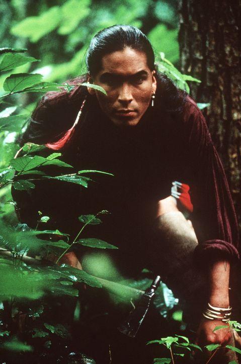 Lautlos pirscht sich Uncas (Eric Schweig) an das feindliche Lager heran ... - Bildquelle: 20th Century Fox