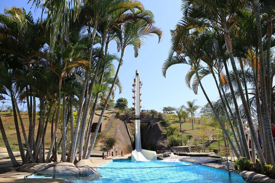 Die wohl höchste und die schnellste Wasserrutsche der Welt: Kilimanjaro im Aldeia Das Aguas Park Resort in Rio de Janeiro, Brasilien ... - Bildquelle: 2016,The Travel Channel, L.L.C. All Rights Reserved.