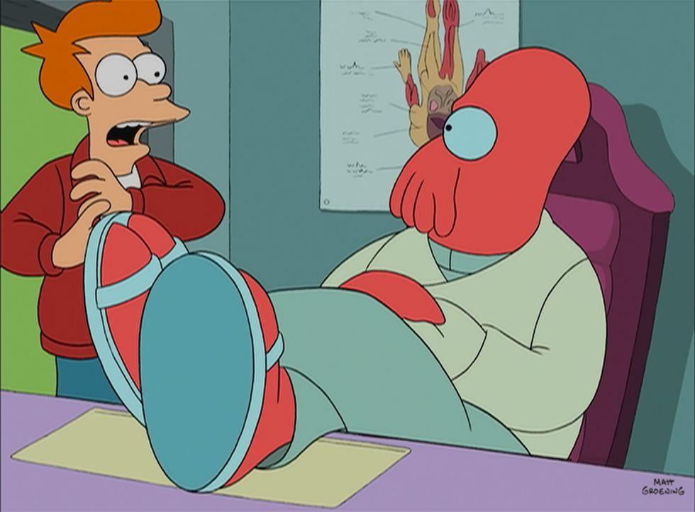 Fry (l.); Zoidberg (r.) - Bildquelle: 1999 Fox and its related entities. All rights reserved.