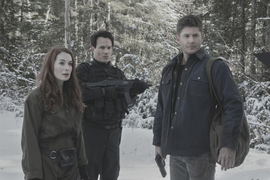 (v.l.n.r.) Charlie (Felicia Day); Ketch (David Haydn-Jones); Dean (Jensen Ackles) - Bildquelle: Dean Buscher 2018 The CW Network, LLC. All Rights Reserved / Dean Buscher