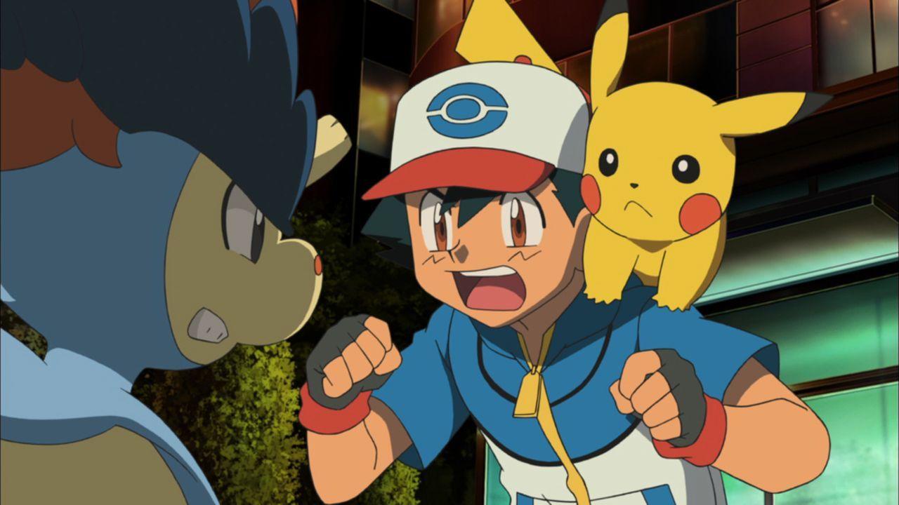 Noch ahnen Ash (M.) und Pikachu (r.) nicht, um wen es sich bei Keldeo (l.) wirklich handelt ... - Bildquelle: 2014 Pokémon.   1997-2014 Nintendo, Creatures, GAME FREAK, TV Tokyo, ShoPro, JR Kikaku. TM, ® Nintendo.