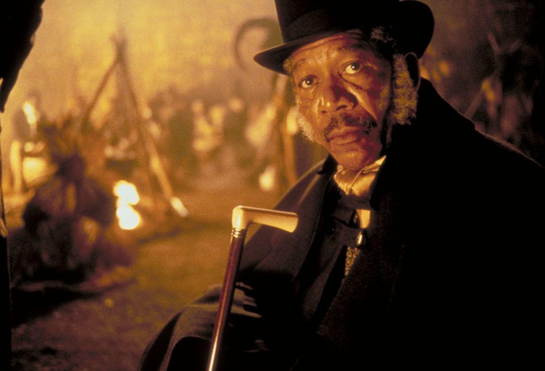 Der Anwalt Theodore Joadson (Morgan Freeman), der für die Abschaffung der Sklaverei eintritt, besucht die gefangenen Afrikaner, die wegen Mordes vor... - Bildquelle: DreamWorks Distribution LLC