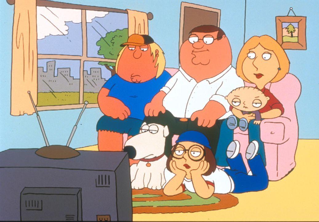(2. & 3. Staffel) - (v.l.n.r.) Die Mittelklasse-Familie: Chris, Brian, Peter, Meg, Stewie und Lois Griffin sind eine fernsehbesessene Familie. - Bildquelle: TM +   1998 Twentieth Century Fox Film Corp. All Rights Reserved.