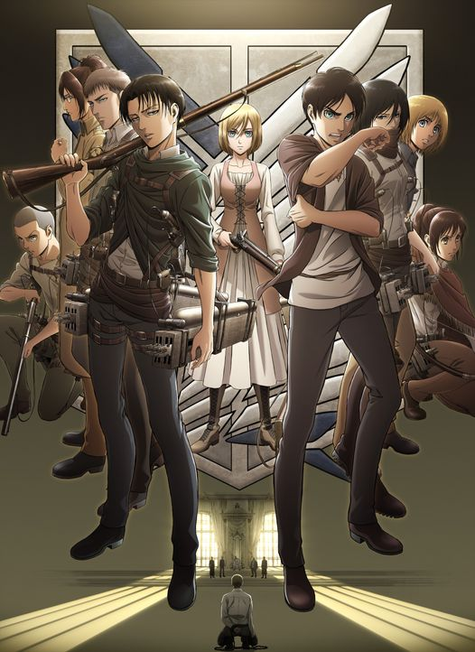 "(3. Staffel) - Attack on Titan - Artwork - Bildquelle: Hajime Isayama, Kodansha/""ATTACK ON TITAN"" Production Committee. All Rights Reserved."