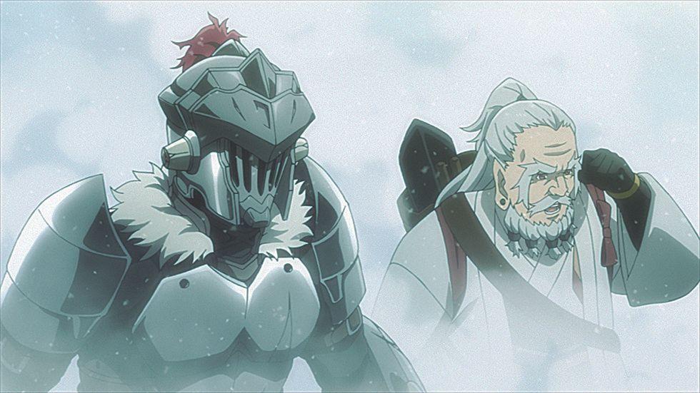 Goblin Slayer (l.); Zwergmönch (r.) - Bildquelle: Kumo Kagyu - SB Creative Corp./Goblin Slayer GC Project.
