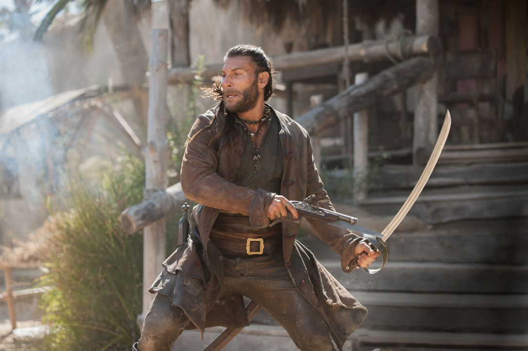 Kopfgeldjäger wurden auf ihn angesetzt: Captain Vane (Zach McGowan) ... - Bildquelle: David Bloomer 2016 Starz Entertainment, LLC. All Rights Reserved