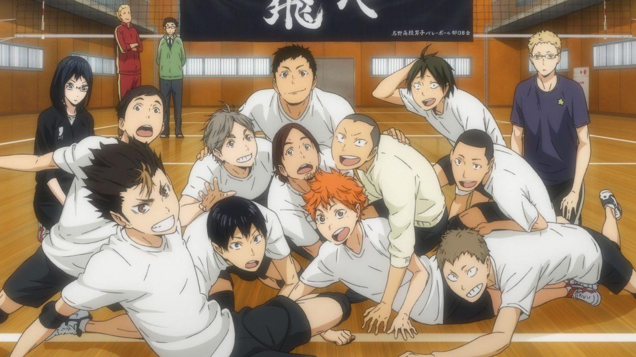 """Das Volleyballteam der Karasuno Oberschule - Bildquelle: H.Furudate / Shueisha,""""Haikyu!!?Project, MBS"""