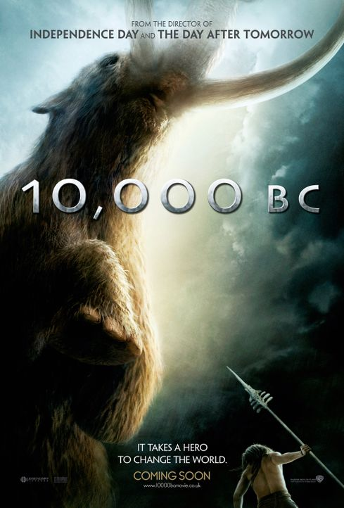 10.000 BC - Plakatmotiv: Um seine Angebetete aus den Händen ihrer Entführer zu befreien, geht D'Leh (Steven Strait) ein großes Risiko ein ... - Bildquelle: Warner Brothers