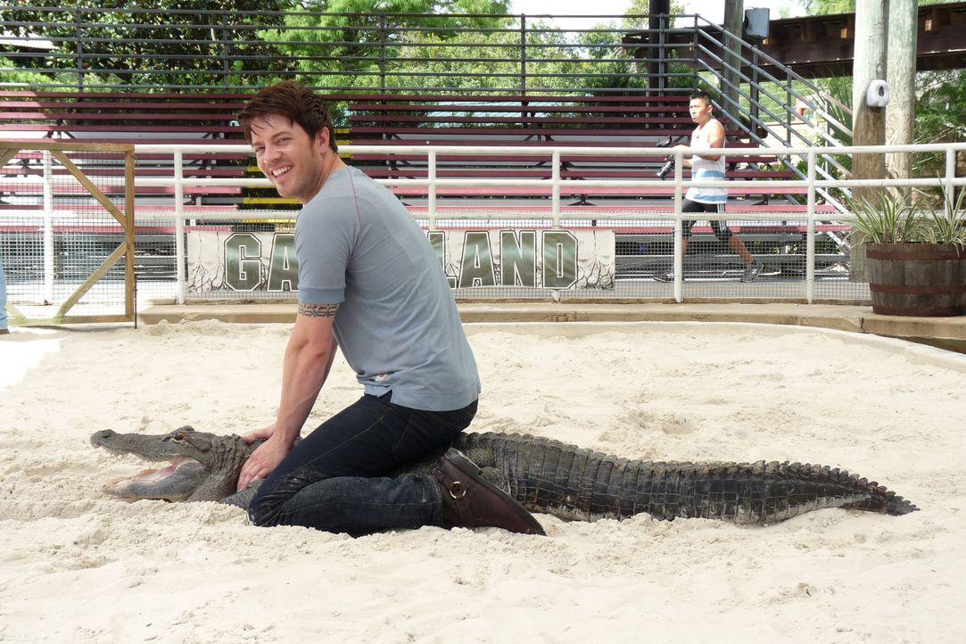J.D. Scott besucht dieses Mal die exotischsten Tierparks in Florida, wie auch das Gatorland mit seinen Alligatoren ... - Bildquelle: 2014,Great American Country/Scripps Networks, LLC. All Rights Reserved.