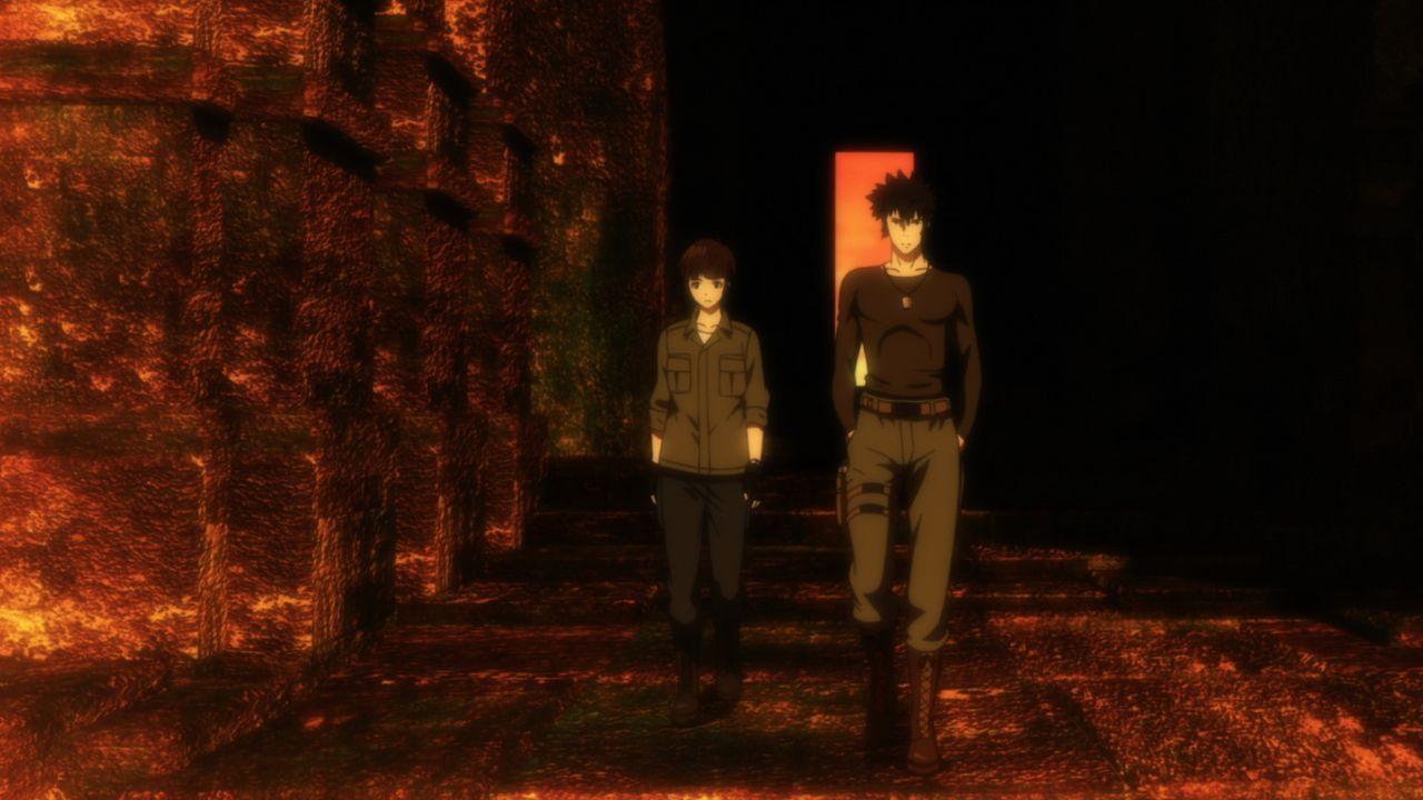 Da alle Indizien darauf hinweisen, dass Shinya Kogami (r.) einer der gesuchten Mittäter ist, macht sich Akane (l.) auf den Weg, um ihn ausfindig zu... - Bildquelle: PSYCHO-PASS Committee