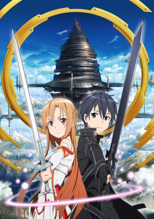 "(1. Staffel) - Die beiden Online-Game Spieler Asuna (l.) und Kazuto alias Kirito (r.) müssen in der virtuellen Welt ""Aincrad"" des Spiels Sword Art O... - Bildquelle: REKI KAWAHARA/ASCII MEDIA WORKS/SAO Project"