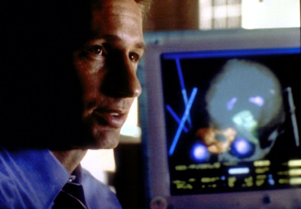 Mulder (David Duchovny ) stellt fest, dass der Gefängnisgeistliche über eine besondere Gabe verfügt. - Bildquelle: TM +   2000 Twentieth Century Fox Film Corporation. All Rights Reserved.