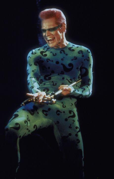 """Verbündet sich mit """"Two Face"""" gegen ihren gemeinsamen Erzfeind Batman: """"Riddler"""" (Jim Carrey) ... - Bildquelle: Warner Brothers International"""