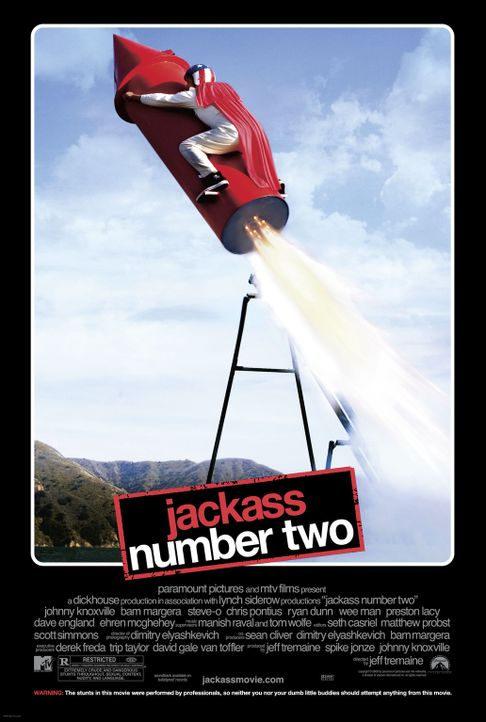 JACKASS NUMMER 2 - Plakatmotiv - Bildquelle: 2007 BY PARAMOUNT PICTURES AND MTV NETWORKS. A DIVISION OF VIACOM INTERNATIONAL INC. ALL RIGHTS RESERVED.