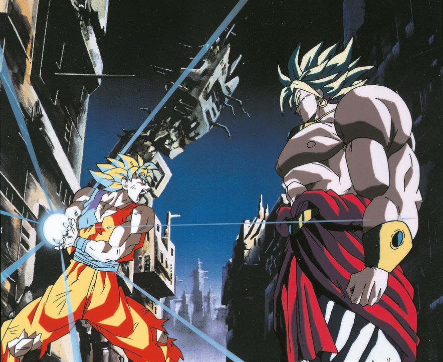 Son-Goku (l.); Broly (r.) - Bildquelle: Bird Studio/Shueisha, Toei Animation Film © 1993 Toei Animation Co., Ltd.