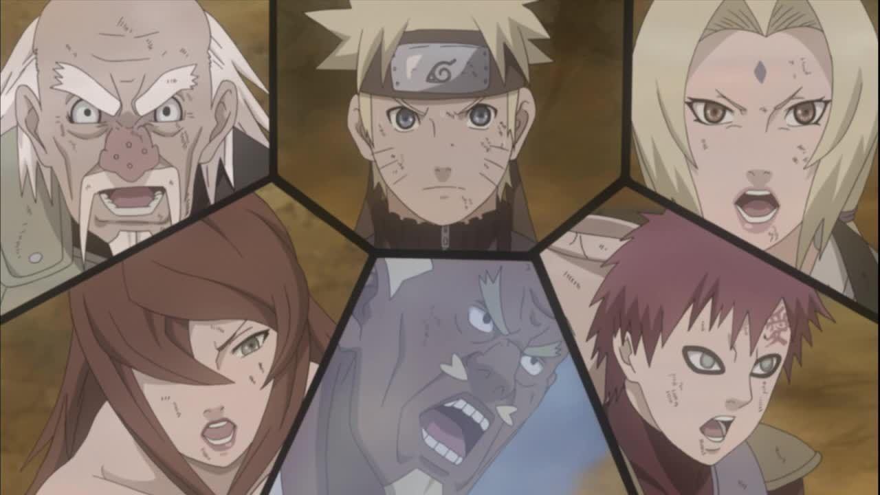 Die fünf Kage vertrauen Naruto