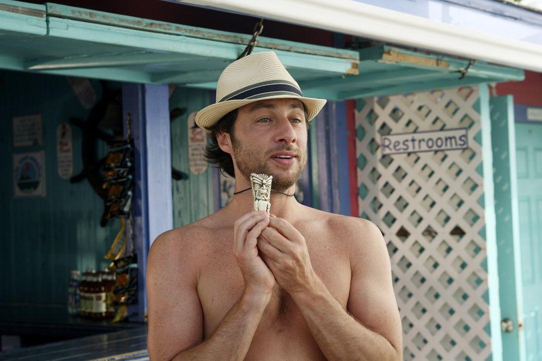 Der Hausmeister und seine Lady verschicken Einladungen für ihre Hochzeit auf den Bahamas, um Aufmerksamkeit zu erlangen. J.D. (Zach Braff) überredet... - Bildquelle: Touchstone Television