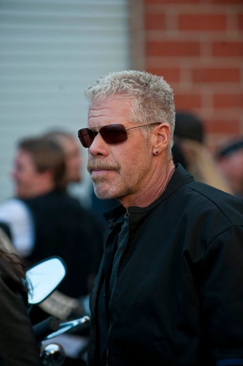 Zusammen mit den Sons kommt Clay (Ron Perlman) in Irland an, wo sie sogleich in eine Polizeikontrolle geraten ... - Bildquelle: 2010 FX Networks, LLC. All rights reserved.