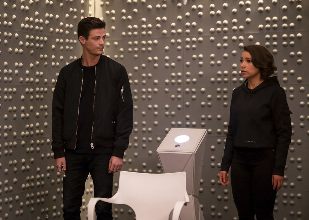 Barry (Grant Gustin, l.); Nora (Jessica Parker Kennedy, r.) - Bildquelle: Jeff Weddell 2018 The CW Network, LLC. All rights reserved.