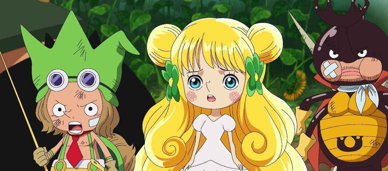 (v.l.n.r.) Leo; Mansherry; Kabu - Bildquelle: Eiichiro Oda/Shueisha, Toei Animation
