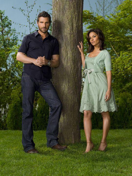 (2. Staffel) - Nobelpreisträger und Workoholic Nathan Stark (Ed Quinn, l.) verliert seine Frau Allison (Salli Richardson, r.) ... - Bildquelle: Universal Television