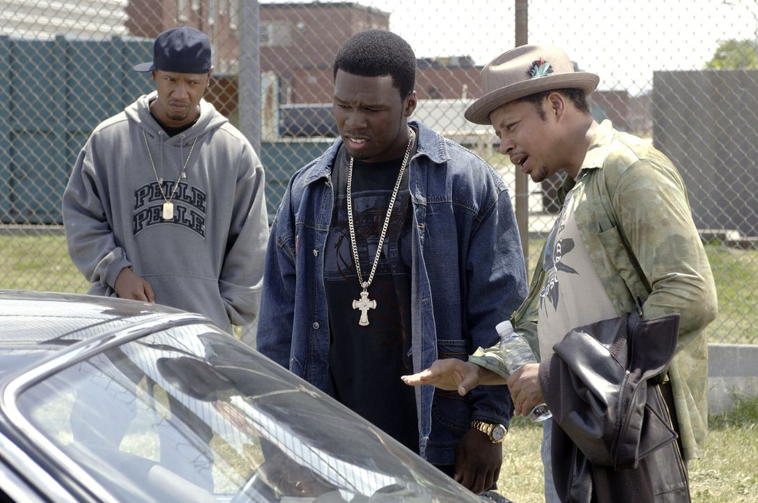 Immer aus Streit aus: (v.l.n.r.) Justice (Tory Kittles), Marcus (50 Cent) und Bama (Terrence Dashon Howard) ... - Bildquelle: 2005 by PARAMOUNT PICTURES. All Rights Reserved.