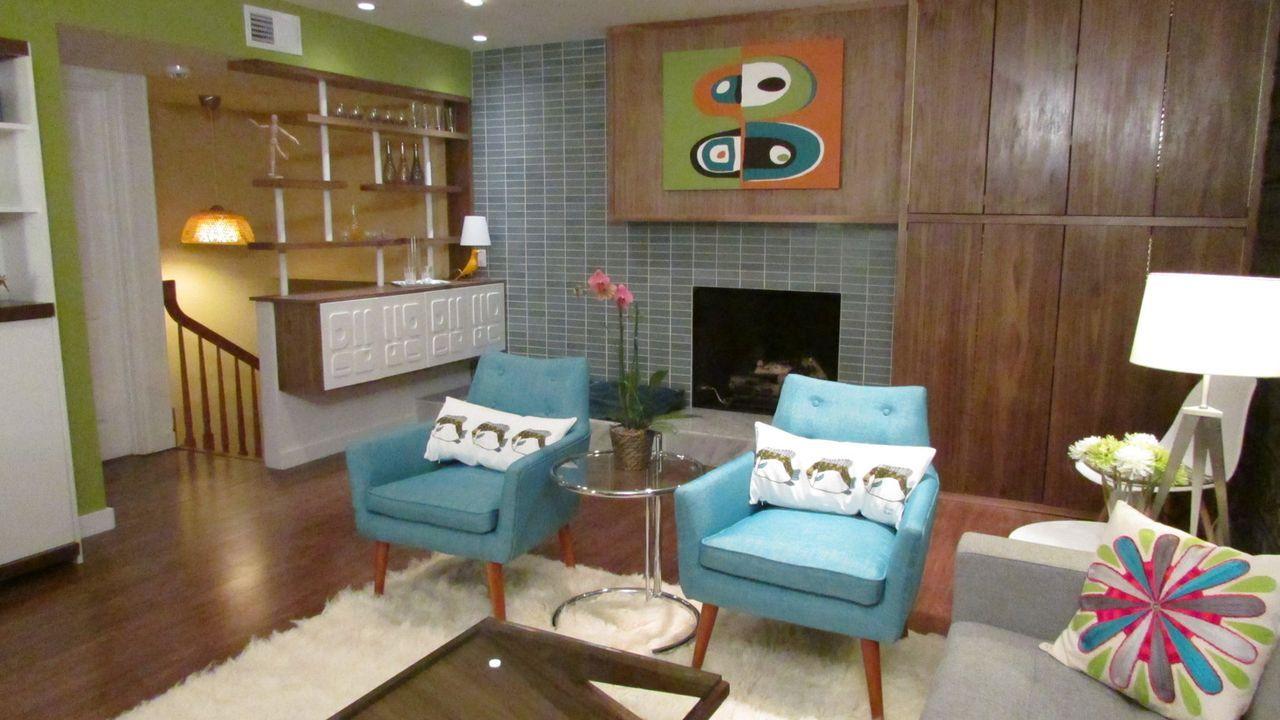 Die 50er-Jahre-Lounge - Bildquelle: 2013,DIY Network/Scripps Networks, LLC. All Rights Reserved