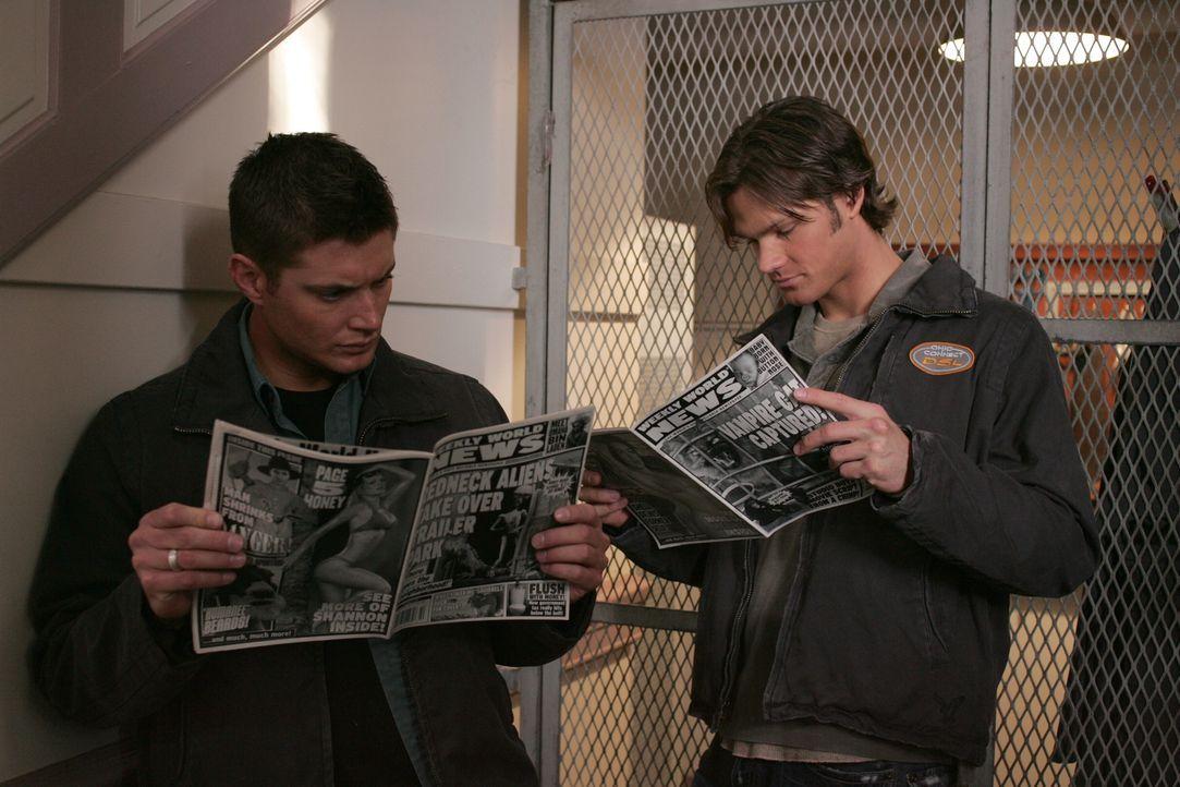 Ein neuer mysteriöser Fall beschäftigt Sam (Jared Padalecki, r.) und Dean Winchester (Jensen Ackles, l.) ... - Bildquelle: Warner Bros. Television