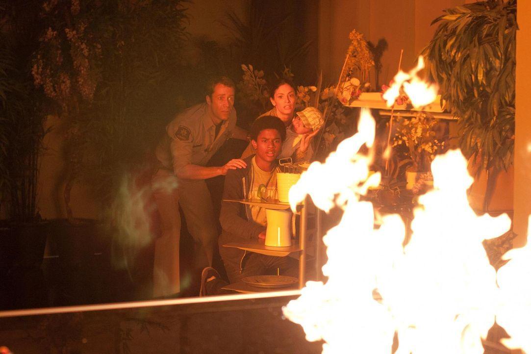 Können Jack (Colin Ferguson, l.), Kevin (Trevor Jackson, M.) und Lupo (Erica Cerra, r.) verhindern, dass immer mehr Häuser in Brand geraten? - Bildquelle: Universal Television