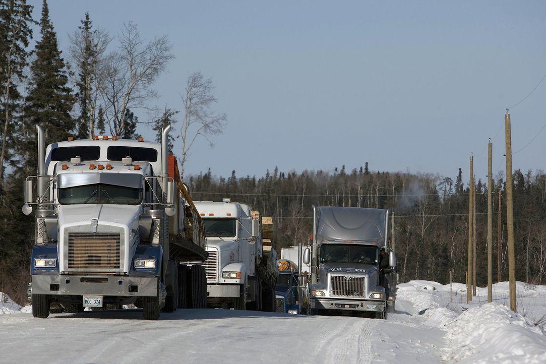 (5. Staffel) - Die Touren der Ice Road Truckers sind lebensgefährlich, dennoch lohnt sich ein Job in dieser ungewöhnlichen Transportbranche. Viele e... - Bildquelle: 2011 A&E Television Networks.   All Rights Reserved.