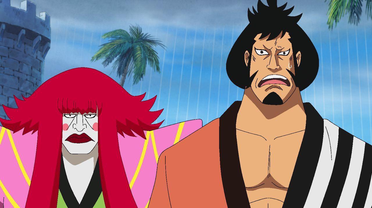 Kanjuro (l.); Kinemon (r.) - Bildquelle: Eiichiro Oda/Shueisha, Toei Animation