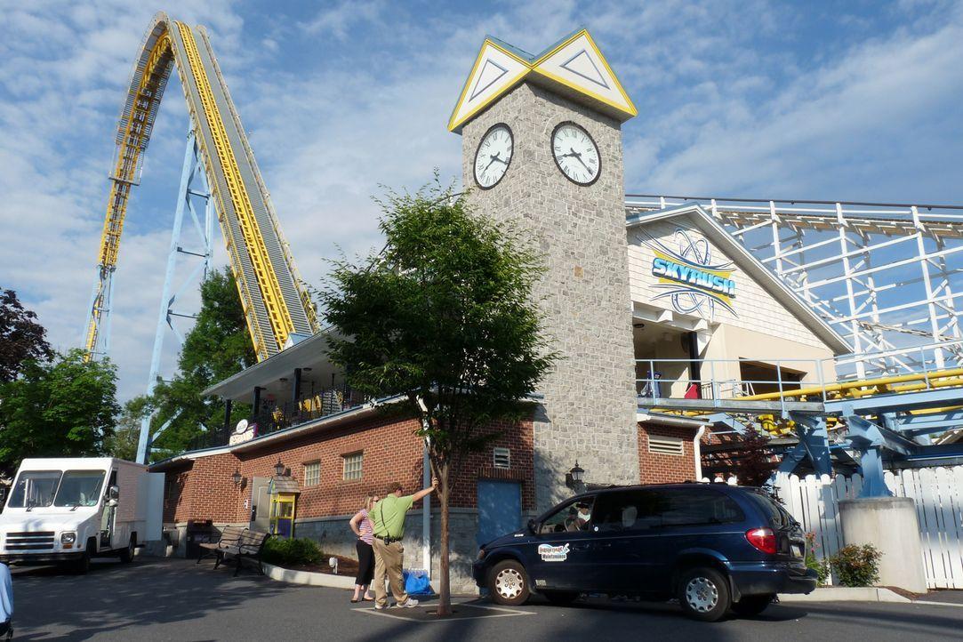 Auf der Jagd nach dem ultimativen Spaß: J.D. Scott stellt die verrücktesten Freizeitparks der USA vor, wie auch den Hersheypark in Pennsylvania mit... - Bildquelle: 2014, GAC/Scripps Networks, LLC. All Rights Reserved.