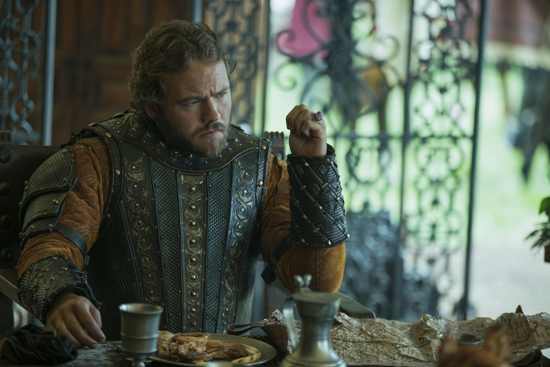 Aethelwulf (Moe Dunford), der rechtmäßige König von Wessex, geht ein Bündnis ein, um York zurückzuerobern. Doch wird diese Vereinigung tatsächlich v... - Bildquelle: 2017 TM PRODUCTIONS LIMITED / T5 VIKINGS III PRODUCTIONS INC. ALL RIGHTS RESERVED.
