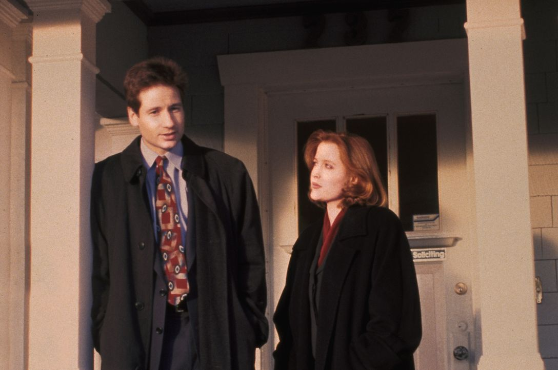 Fox Mulder (David Duchovny, l.); Dana Scully (Gillian Anderson, r.) - Bildquelle: 1995 Twentieth Century Fox Film Corporation. All rights reserved.