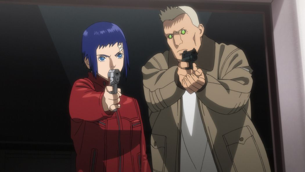 Motoko Kusanagi (l.); Batou (r.) - Bildquelle: Shirow Masamune - Production I.G/KODANSHA - GHOST IN THE SHELL ARISE COMMITTEE. All Rights Reserved.
