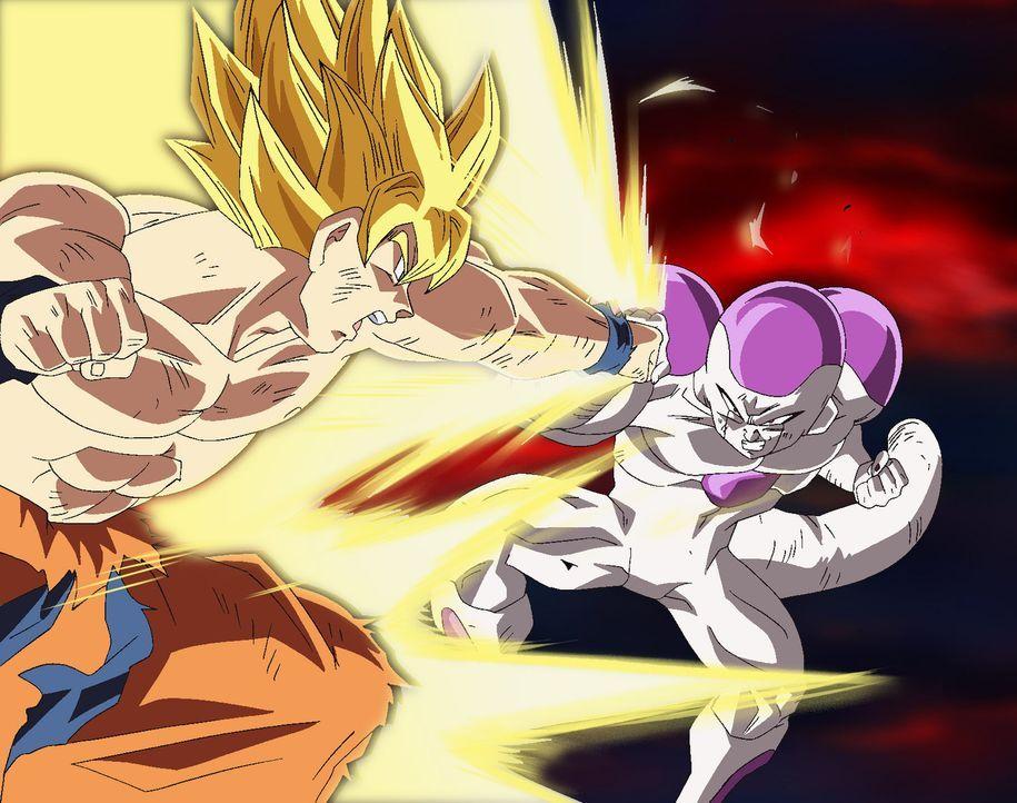 Gemeinsam mit dem Rest der Z-Truppe kämpfen Son Gou und sein Sohn Son Goha gegen die bösen Mächte der Welt ... - Bildquelle: Film  2009 Toei Animation Co., Ltd.  Bird Studio/Shueisha, Toei Animation