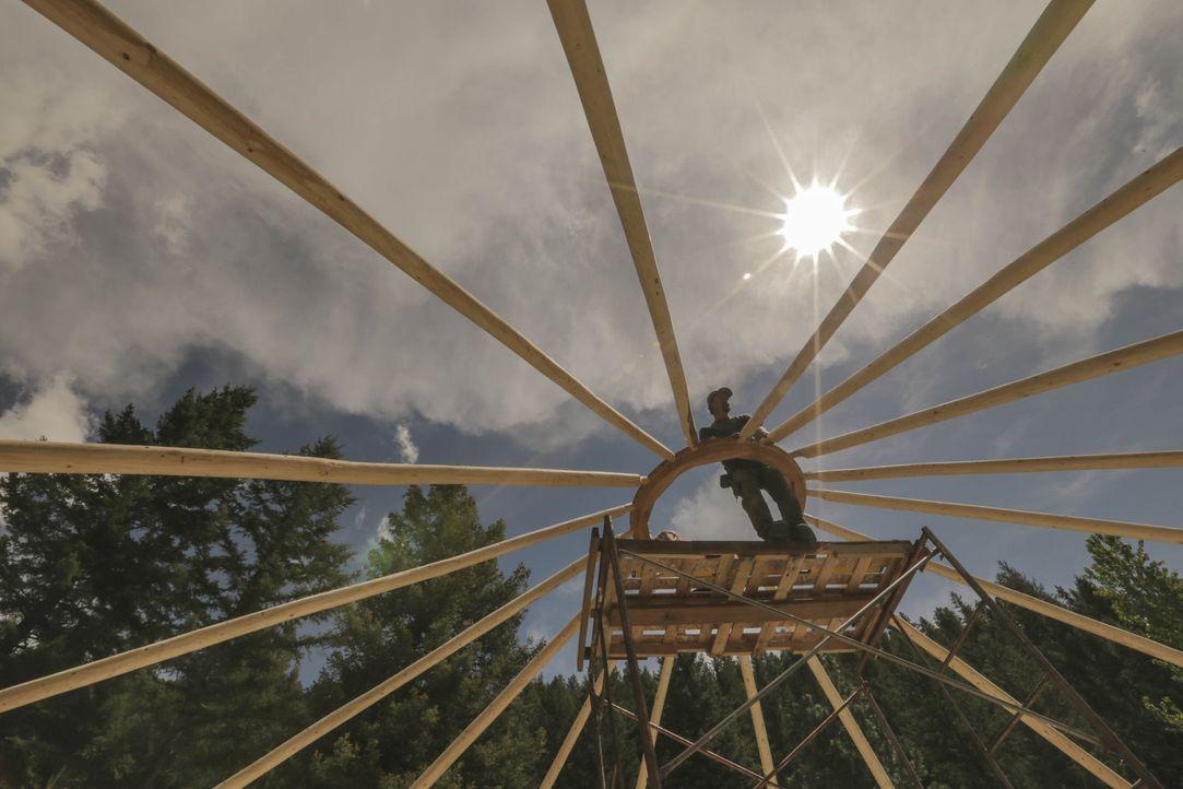 Fernab von aller Zivilisation im Montana wird ein Haus in der Wildnis entstehen, bei dem es an nichts fehlt ... - Bildquelle: 2015,DIY Network/Scripps Networks, LLC. All Rights Reserved.