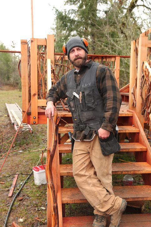 Erfüllt jeden noch so verrückten Baumhaus-Traum: Treehouse Guy Ka-V  ... - Bildquelle: 2015, DIY Network/Scripps Networks, LLC. All Rights Reserved.