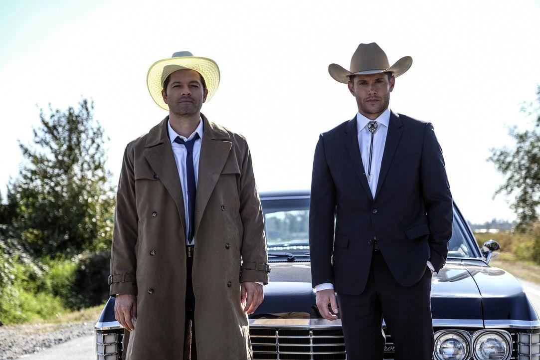 Castiel (Misha Collins); Dean Winchester (Jensen Ackles) - Bildquelle: Bettina Strauss 2017 The CW Network, LLC. All Rights Reserved / Bettina Strauss