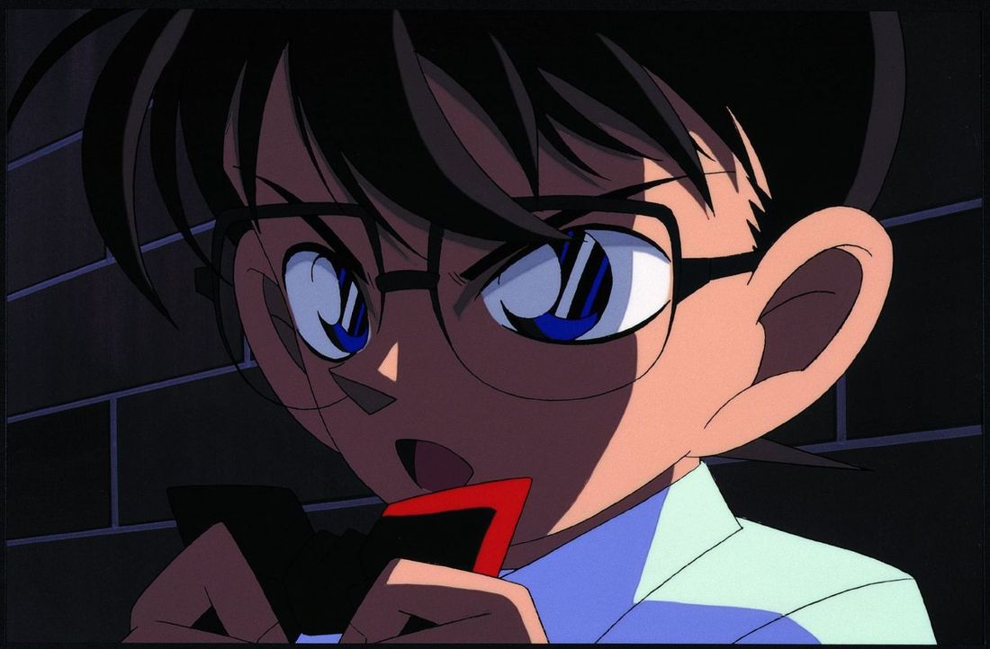 Was haben die rätselhafte Mordanschläge in Conans (Bild) Bekanntenkreis mit einem handelsüblichen Kartenspiel zu tun? Conan gibt alles, um das Rätse... - Bildquelle: GOSHO AOYAMA / SHOGAKUKAN - Yomiuri-TV - UNIVERSAL MUSIC - ShoPro - TMS. All Rights Reserved. Under License to VIZ Media Switzerland SA