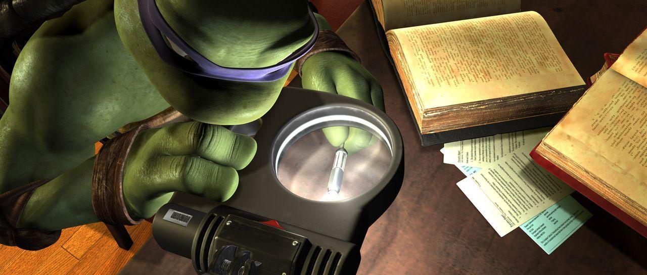 Donatello ist der Denker der vier mutierten Schildkröten, die von Master Splinter in die Kunst des Kampfsportes Ninjutsu eingewiesen wurden und jetz... - Bildquelle: TOBIS Filmkunst GmbH
