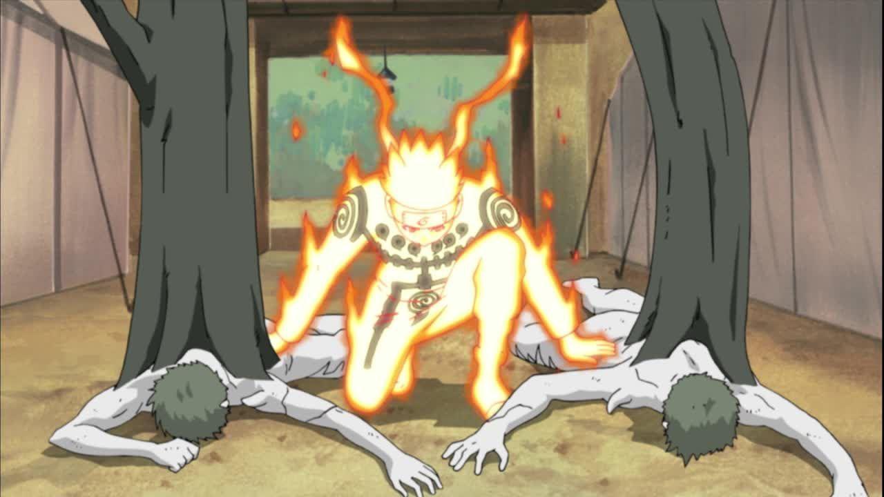 Naruto gegen weiße Zetsus
